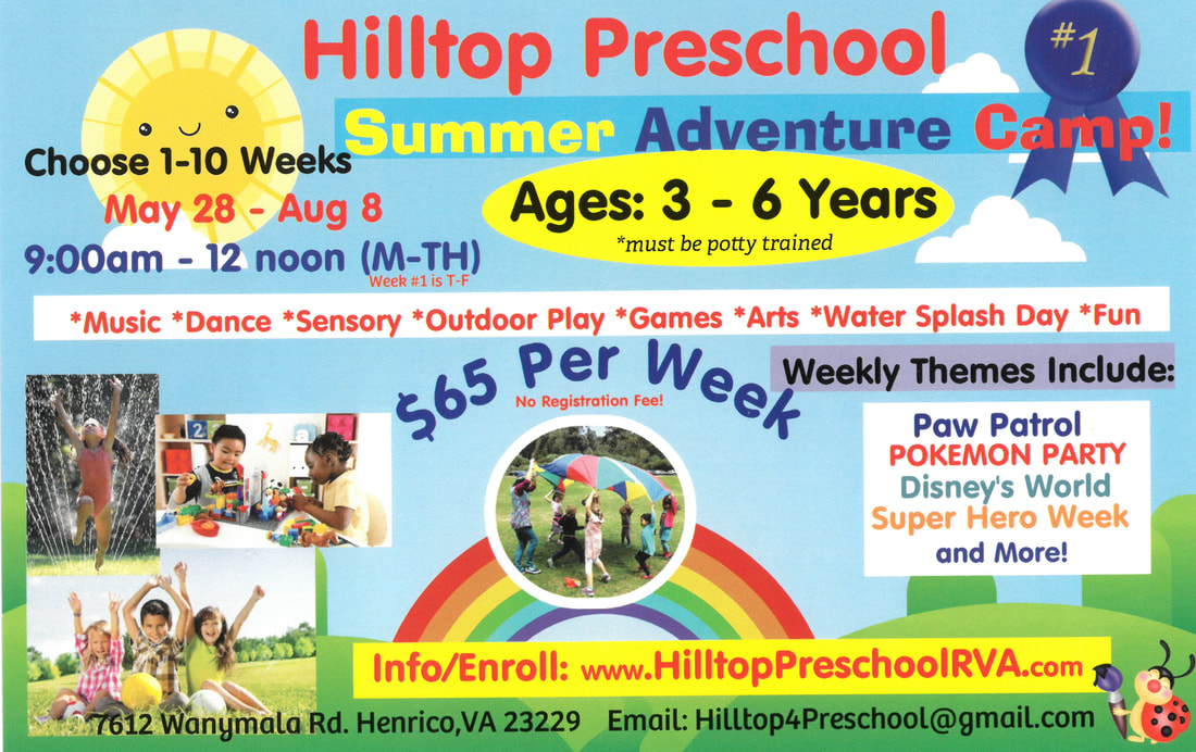 Summer Camp 2019 - HILLTOP PRESCHOOL